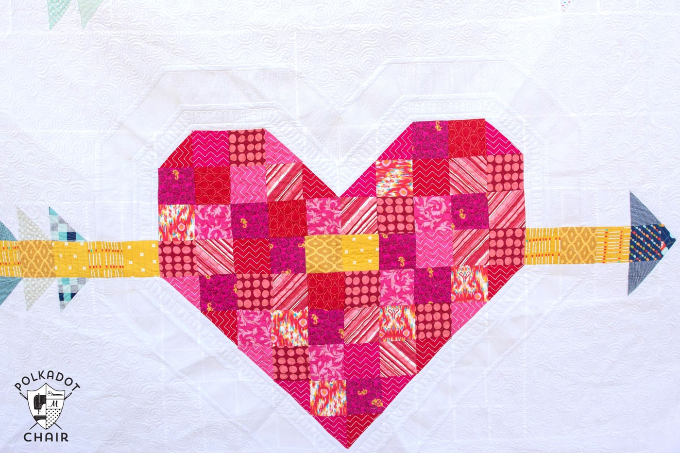 Cupid s Arrow: A Patchwork Heart Quilt Pattern