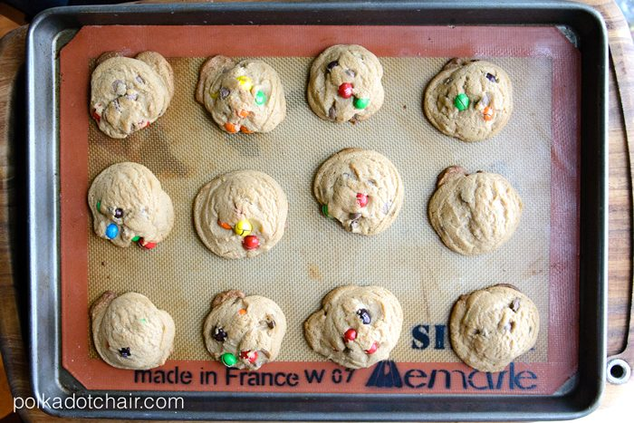 Crispy M&M Malted Milk Cookie Recipe- YUM!
