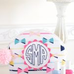 Monogram Arch Top Zip Pouch Sewing Tutorial by Melissa Mortenson of polkadotchair.com