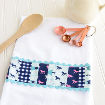 DIY Embellished Dish Towel