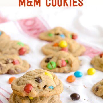 Crispy M&M Malted Milk Cookie Recipe- YUM!