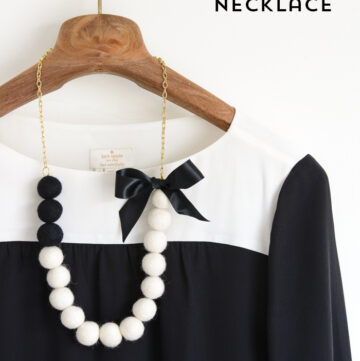 Felt Ball Necklace Tutorial