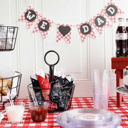 Father's Day BBQ Party Ideas and free printable party supplies
