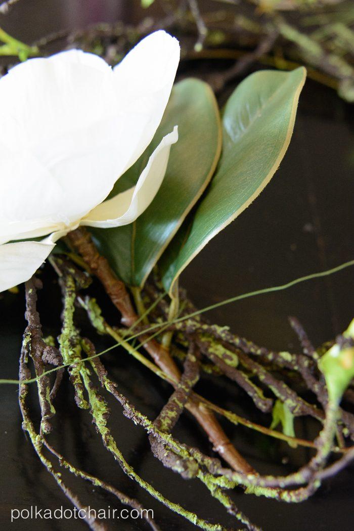 diy magnolia spring wreath ideas