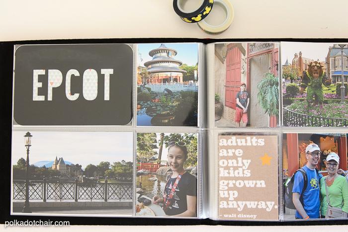 Easy Photo Album Ideas For Disney Vacations