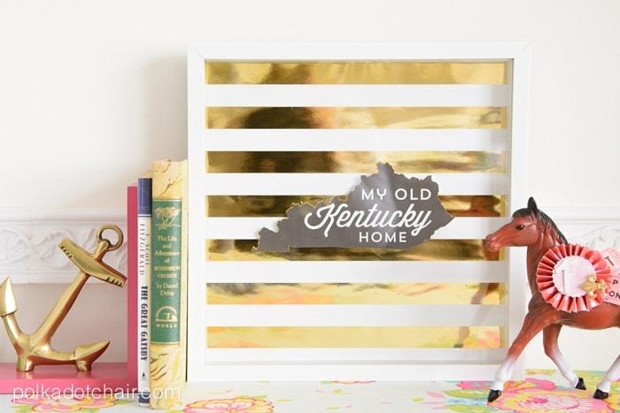 DIY Gold Foil Artwork Tutorial (and free printable) on polkadotchair.com