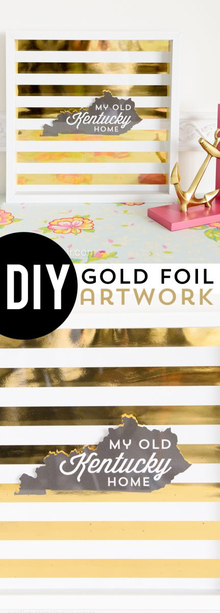 DIY Gold Foil Artwork Tutorial (and free printable) on polkadotchair.com