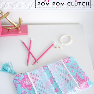 Lilly Pulitzer Inspired Pom Pom Clutch