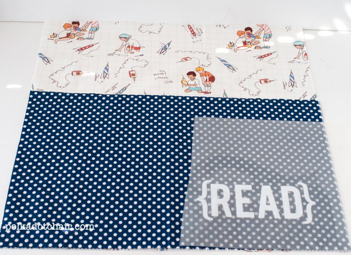 "Sewing Pattern for an ""On the Go Reading Pillow"" a cute pocket pillow for kids"