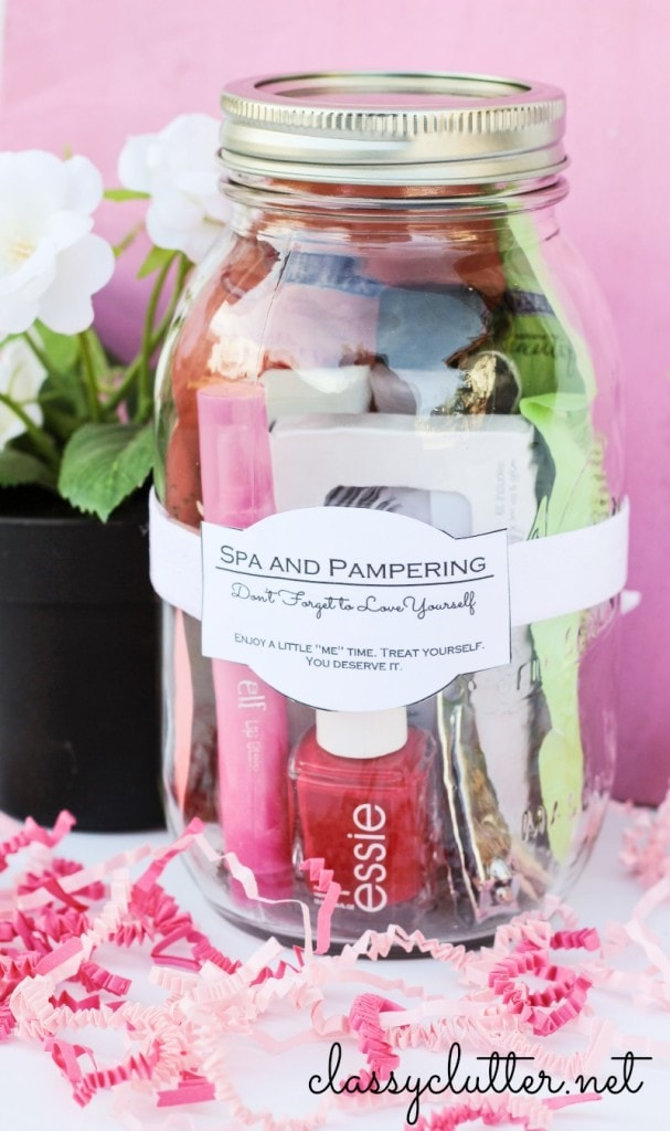 Spa in a Jar - Mason Jar Gift idea