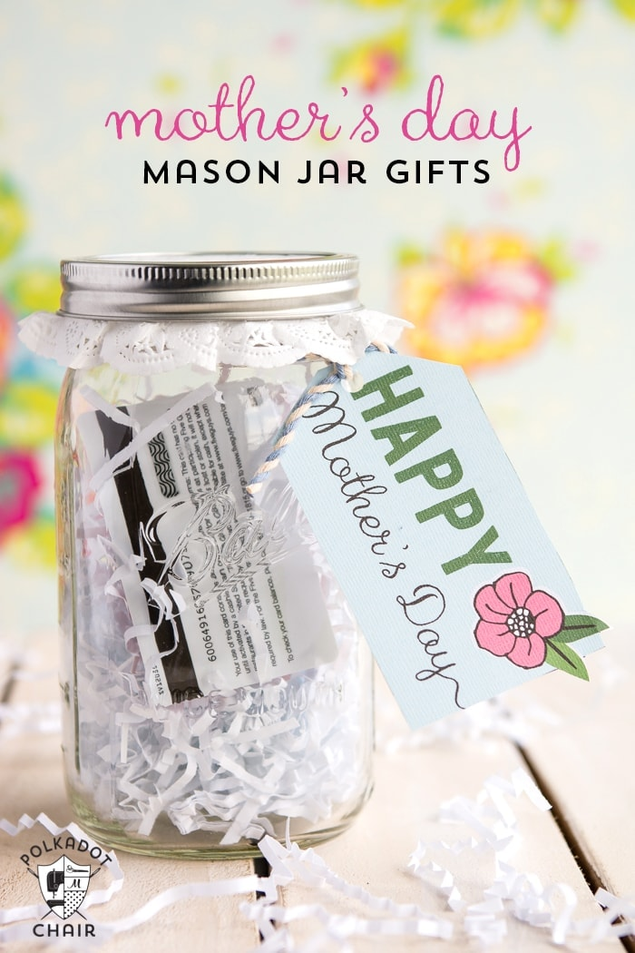 mother 39 s day mason jar gift ideas and free printable tags. Black Bedroom Furniture Sets. Home Design Ideas