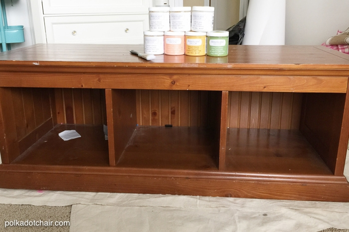 Foyer Paint Finish : Diy chalky finish paint bench makeover