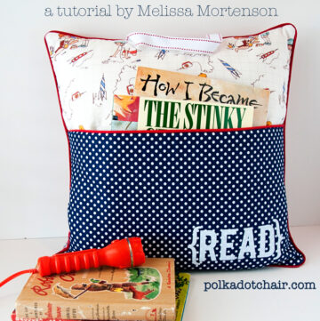 Pocket Reading Pillow Sewing Pattern