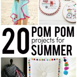 20 Pom Pom Sewing Projects Perfect for Summer!!