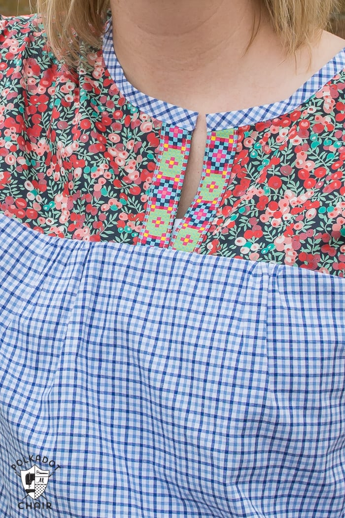 Blouse sewn from Liberty of London Fabric and Anna Maria Horner's Well Composed Blouse sewing pattern