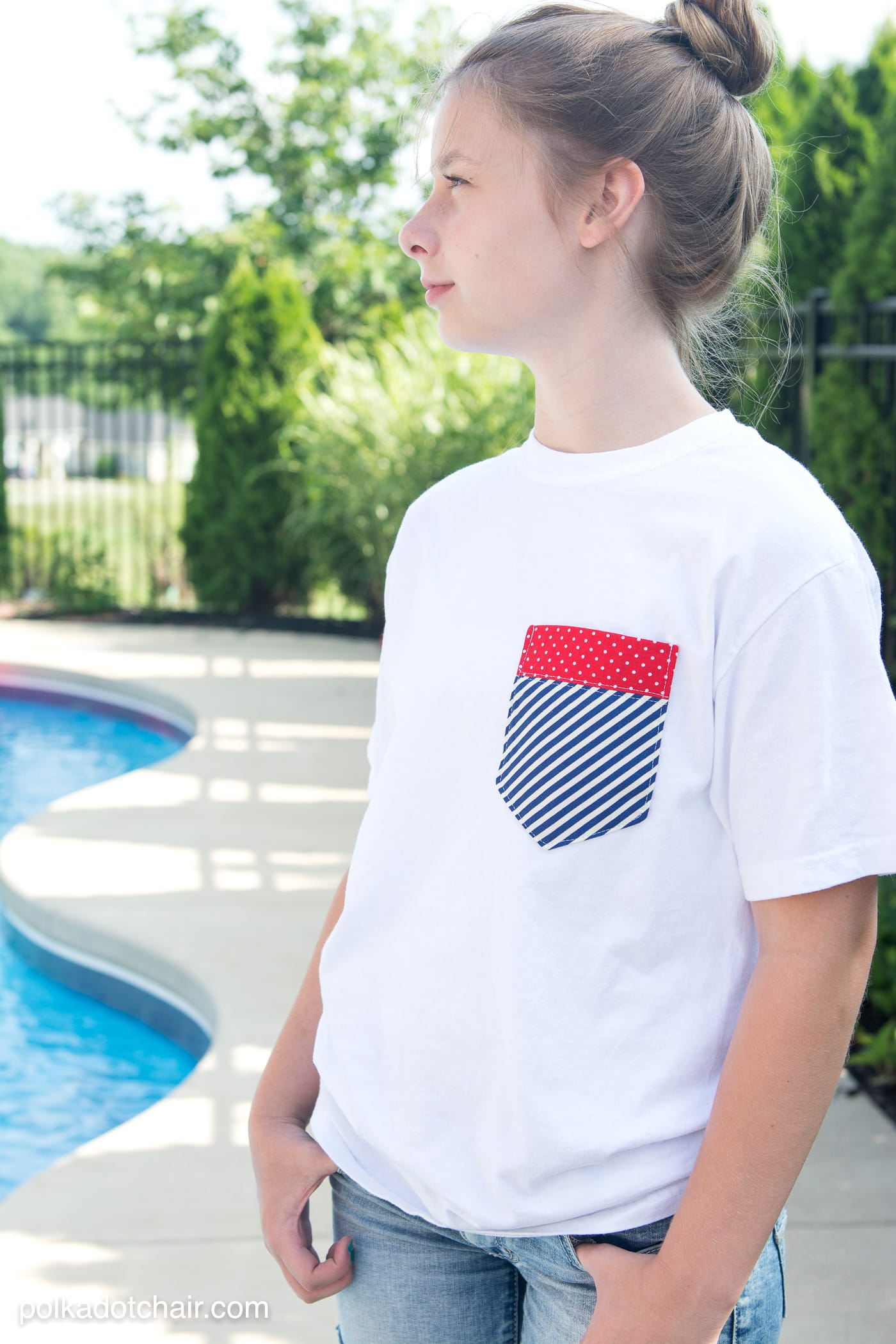 Diy Pocket 4th Of July Shirts On Polkadotchair Com