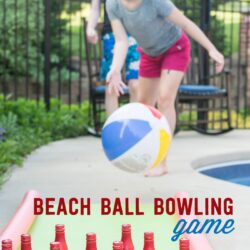 DIY Outdoor Bowling Game, made using Coke mini cans, a yoga mat and pool noodles!!