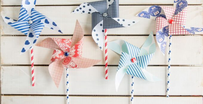 How to make Pinwheels for the 4th of July