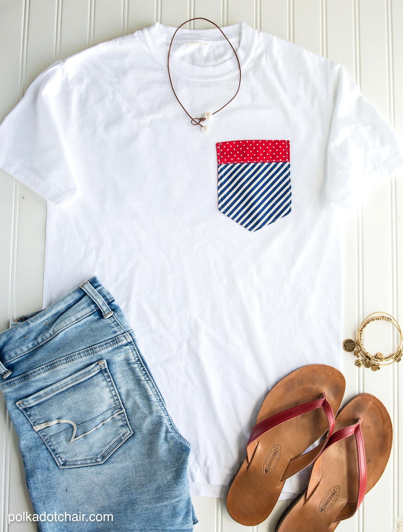 pocket tee Patriotic Shirt