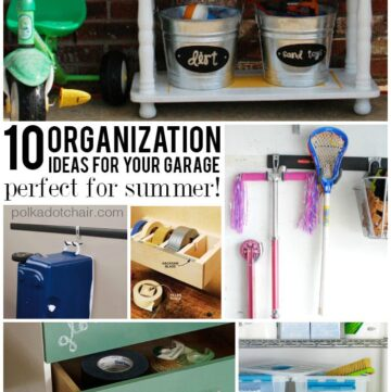 10 Garage Organization Ideas perfect for Summer!