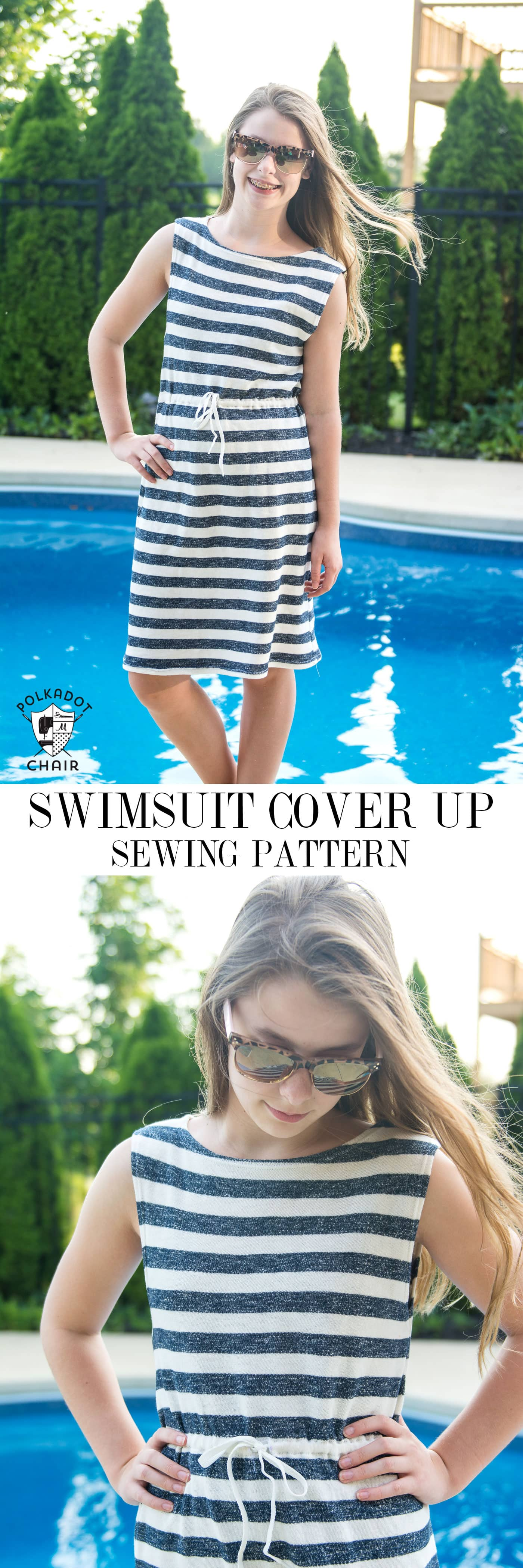 Easy Summer Sundress or Swim Cover up sewing pattern.