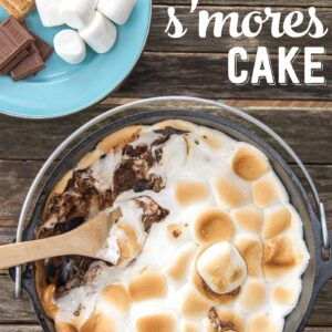 Super easy recipe for S'mores cake!
