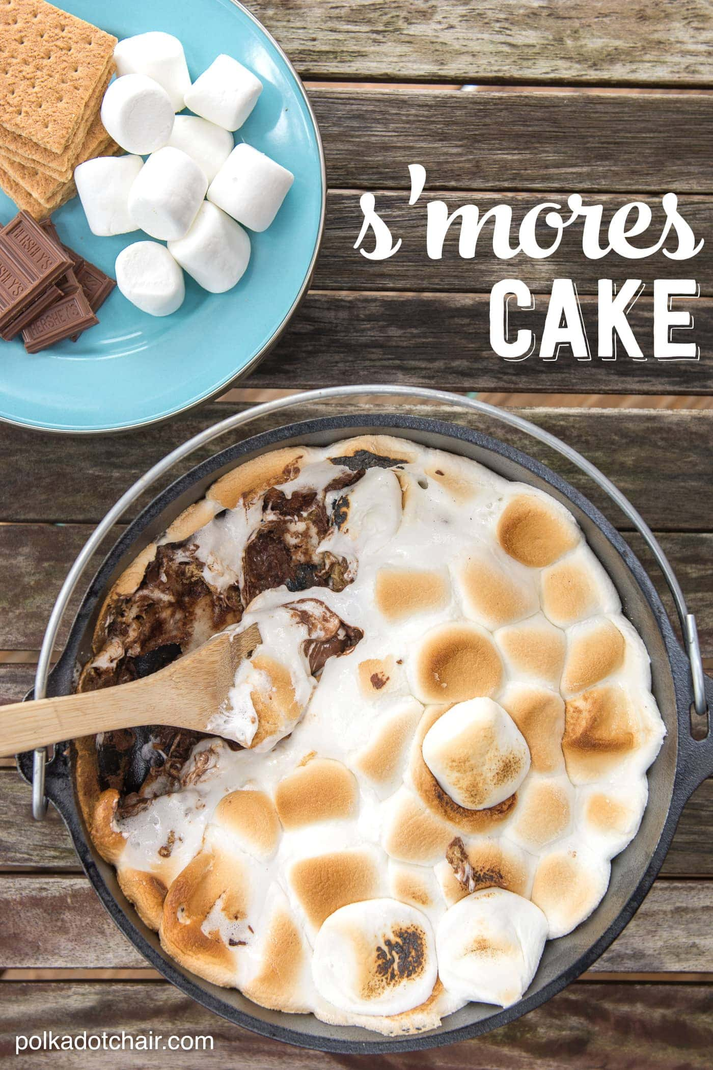 10 Minute Dutch Oven S Mores Cake Recipe