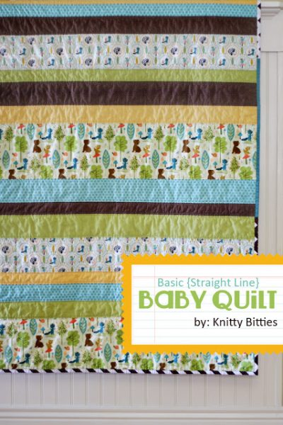 Easy Strips Baby Quilt