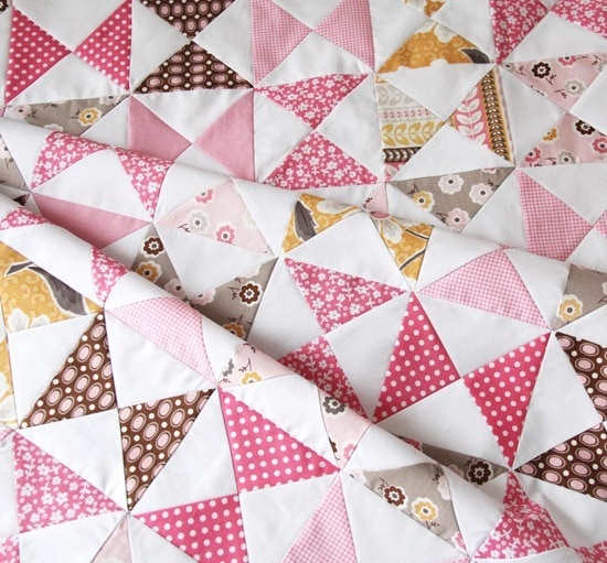 Hourglass blocks quilt