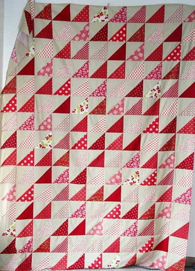 Seeing Red Quilt Tutorial
