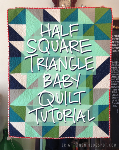 Half Square Triangle Baby Quilt tutorial