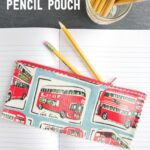 How to Sew an Oilcloth Pencil Pouch