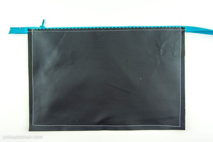 Chalkboard pencil pouch sewing pattern -clever idea for back to school or a teacher appreciation gift
