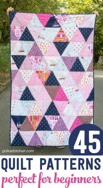 45 Easy Beginner Quilt Patterns & Free Tutorials