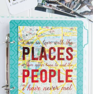 Travel Scrapbooking Ideas & Free Printable Travel Quotes