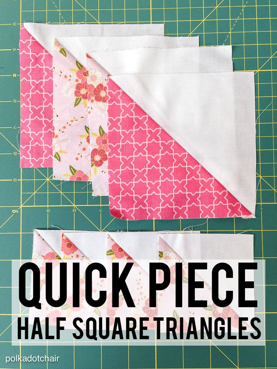 How to Quick Piece Half Square Triangles