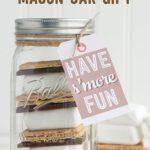 S'Mores Mason Jar Gift Idea