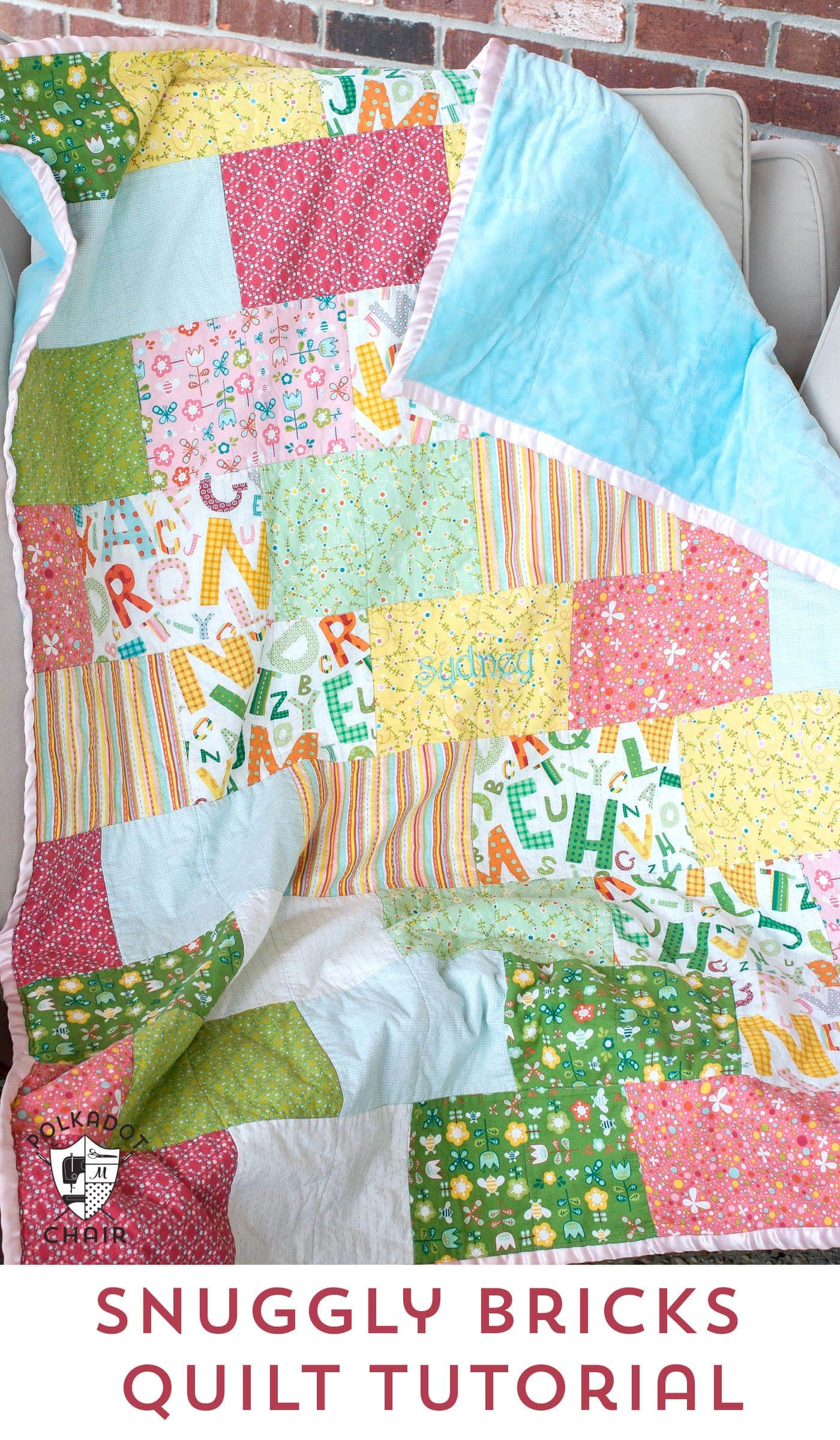 Snuggly Bricks Quilt Tuesday Tutorial The Polkadot Chair