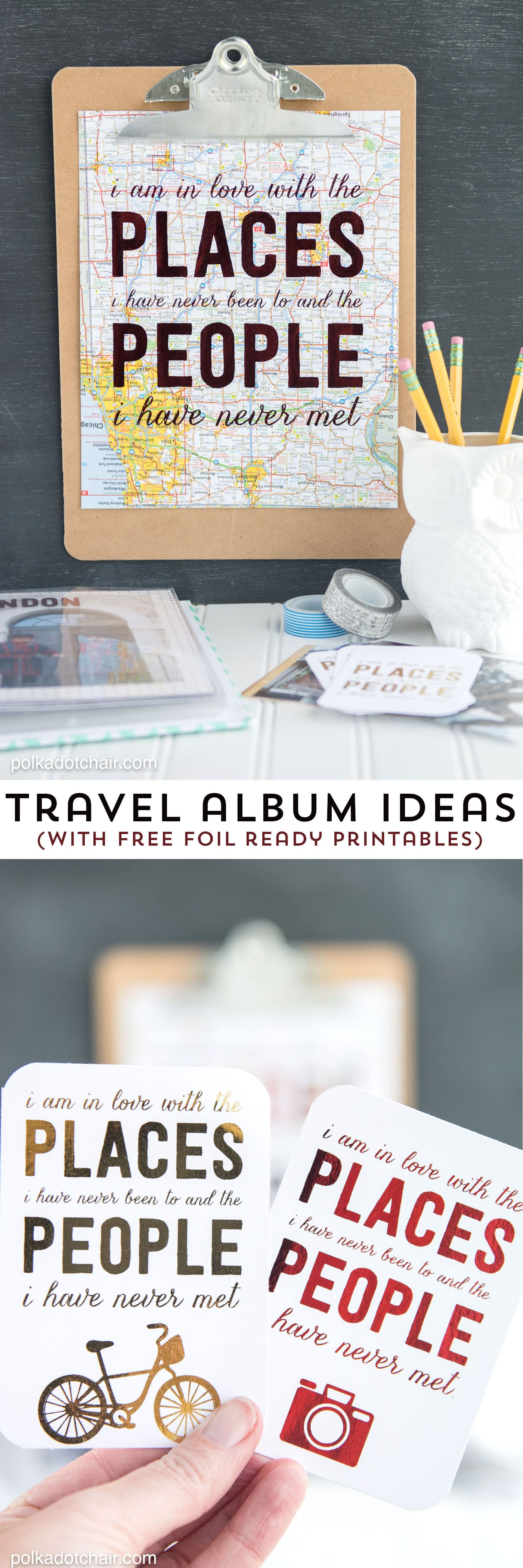 How to scrapbook travel - Free Travel Themed Printables Perfect To Use With A Foil Applicator Machine Lots