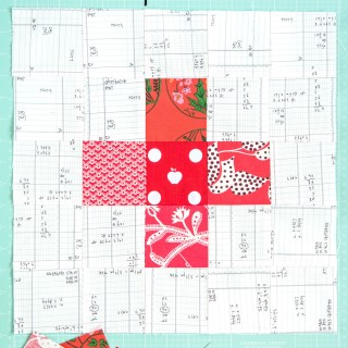 September Quilt Block of the Month: a tutorial for a Plus Block on polkadotchair.com