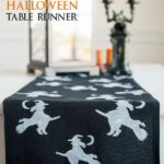DIY Stenciled Halloween Table Runner