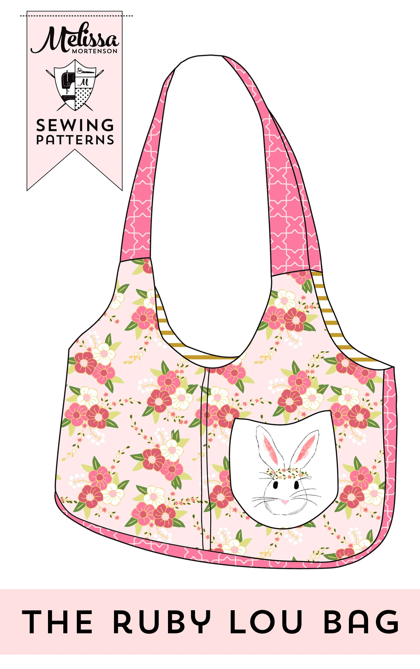 The Ruby Lou Bag Sewing pattern, a really cute purse the perfect size for a little girl