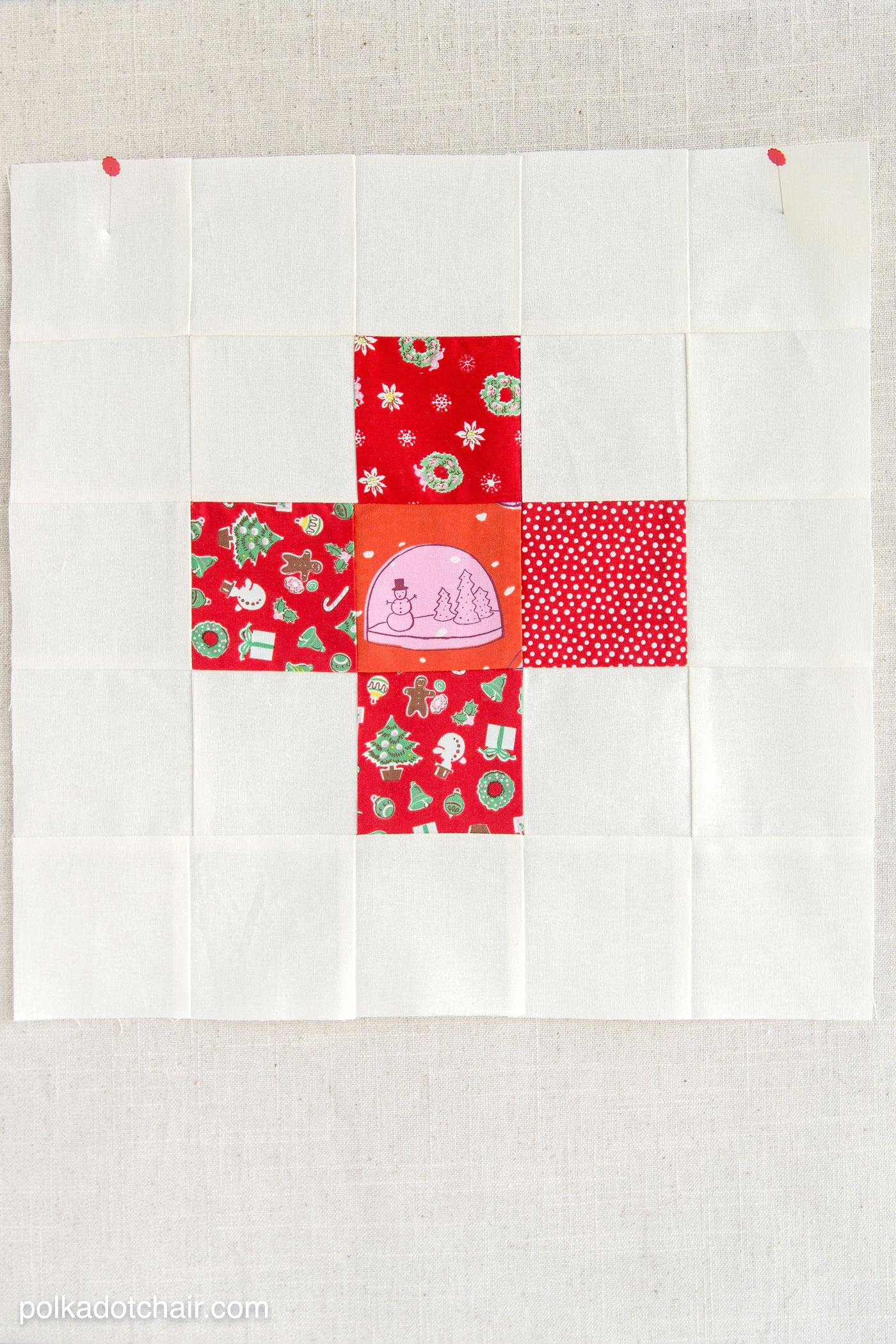 October Block Of The Month Pinwheel Quilt Block
