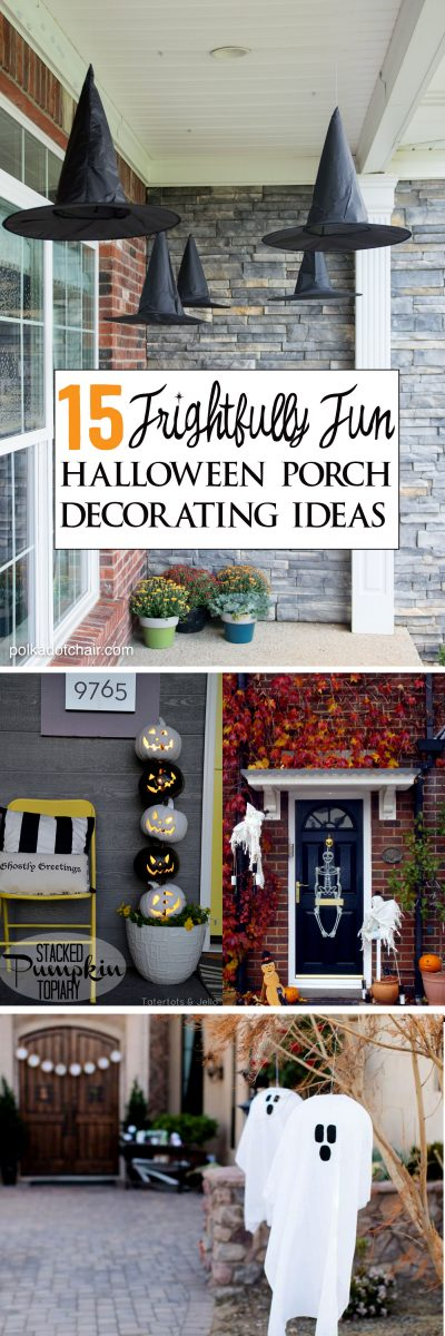 15 frightfully cute ways to decorate a porch for halloween for Ways to decorate your house for halloween