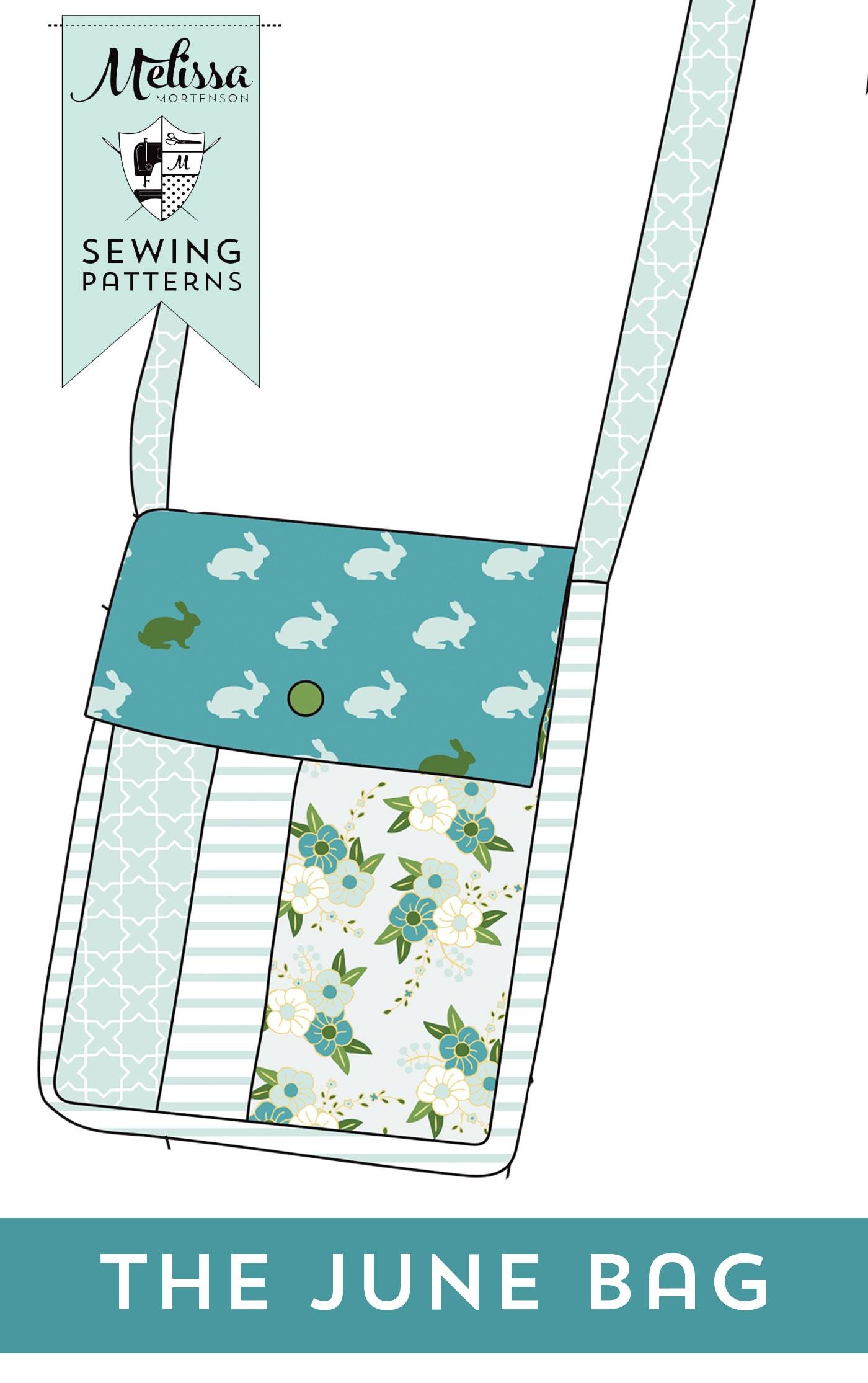 June Bag Small Cross Body Bag Sewing pattern by Melissa Mortenson of polkadotchair.com