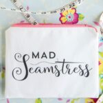 """Mad Seamstress"" Zippered Pouch Sewing Pattern {and printable}"