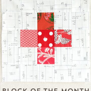 The September Quilt Block of the Month, a variation of a simple pinwheel block. Join in the block of the month series and make a quilt one month at a time.