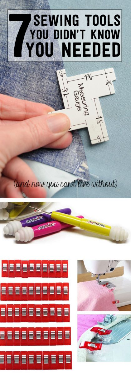 Great list of MUST HAVE Sewing tools, a few of them are new to me.