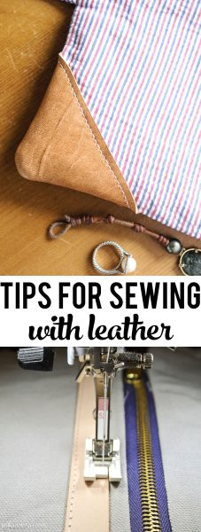 Simple tips and tricks to help get you started sewing with leather on your home sewing machine.