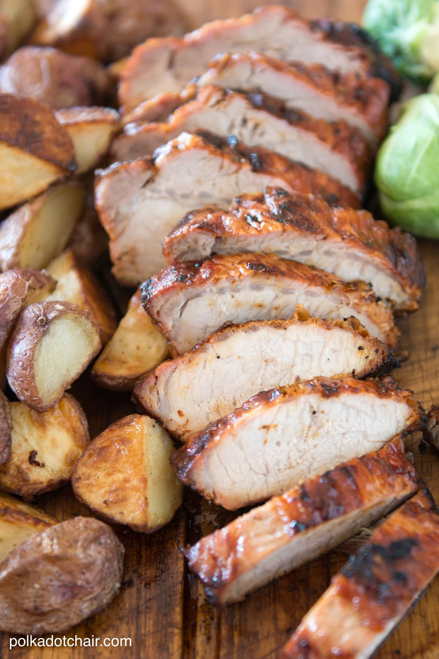 Recipe for Mesquite Grilled Pork Loin, great easy weeknight dinner idea, just cook it on the grill!
